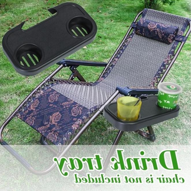 Portable Folding Camping Picnic Outdoor Garden Beach Side Chair Tray For V8B0