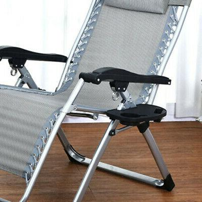 outdoor folding gravity chair tray lounge beach