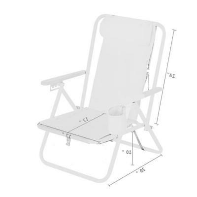 Portable High Strength Chair with Adjustable Headrest