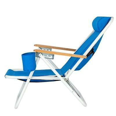 Portable High Strength Beach Chair Blue