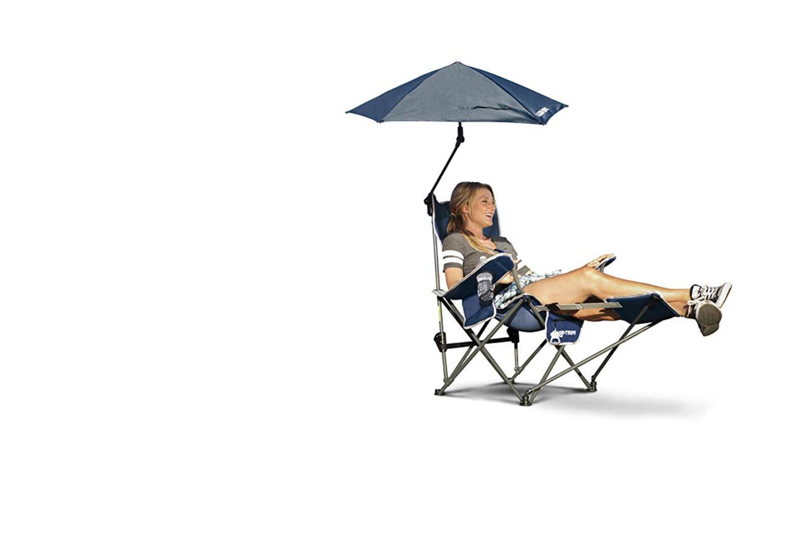 recliner 3 position chair umbrella removable footrest