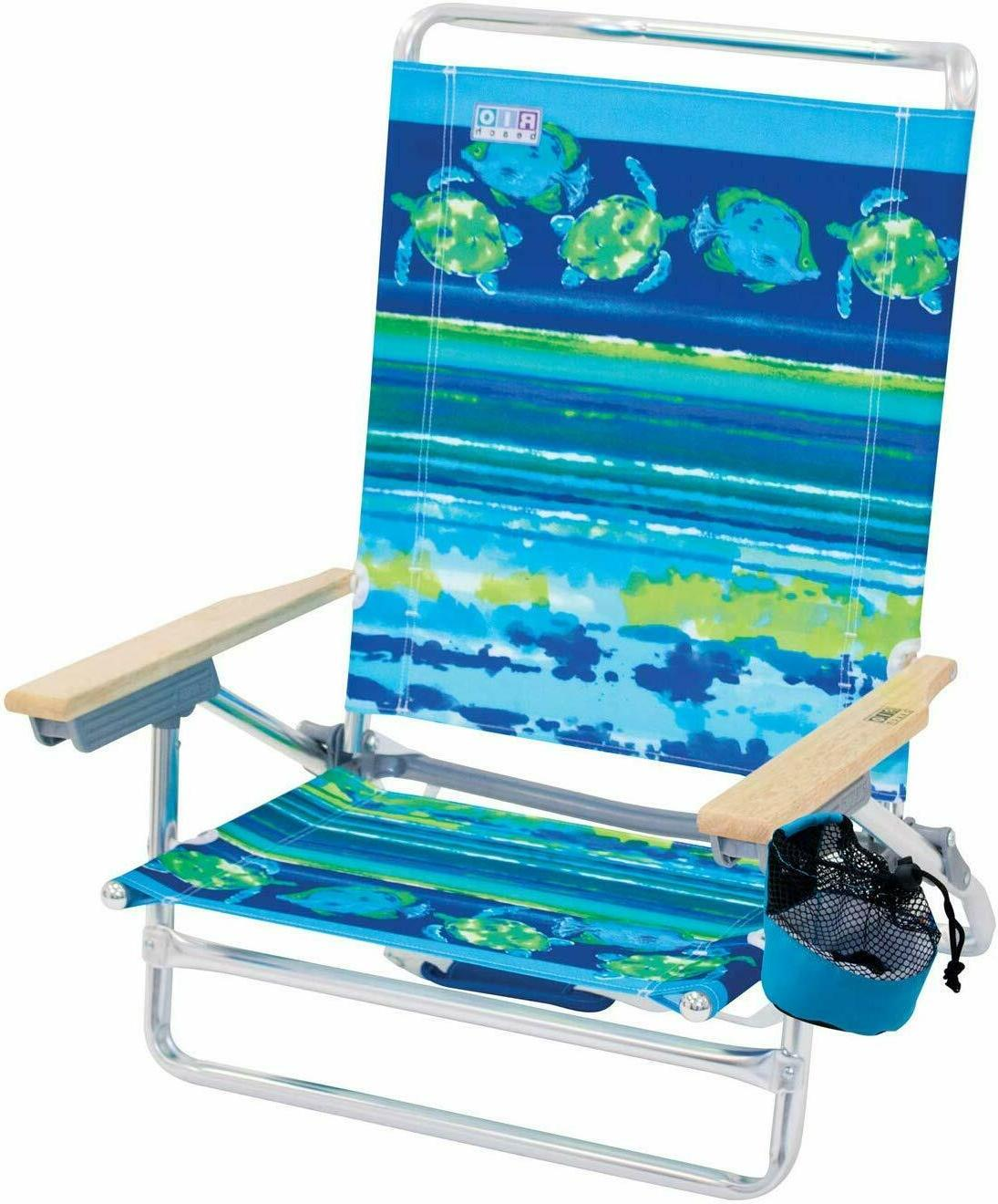 Rio Beach Position Lay Folding Beach Chair