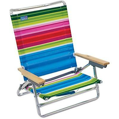 Rio Chairs Beach 5 Position Folding Sports Outdoors