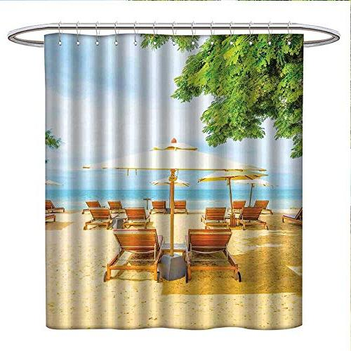 seaside shower curtains mildew resistant