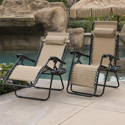 Set Chairs Lounge Outdoor Recliner Chair
