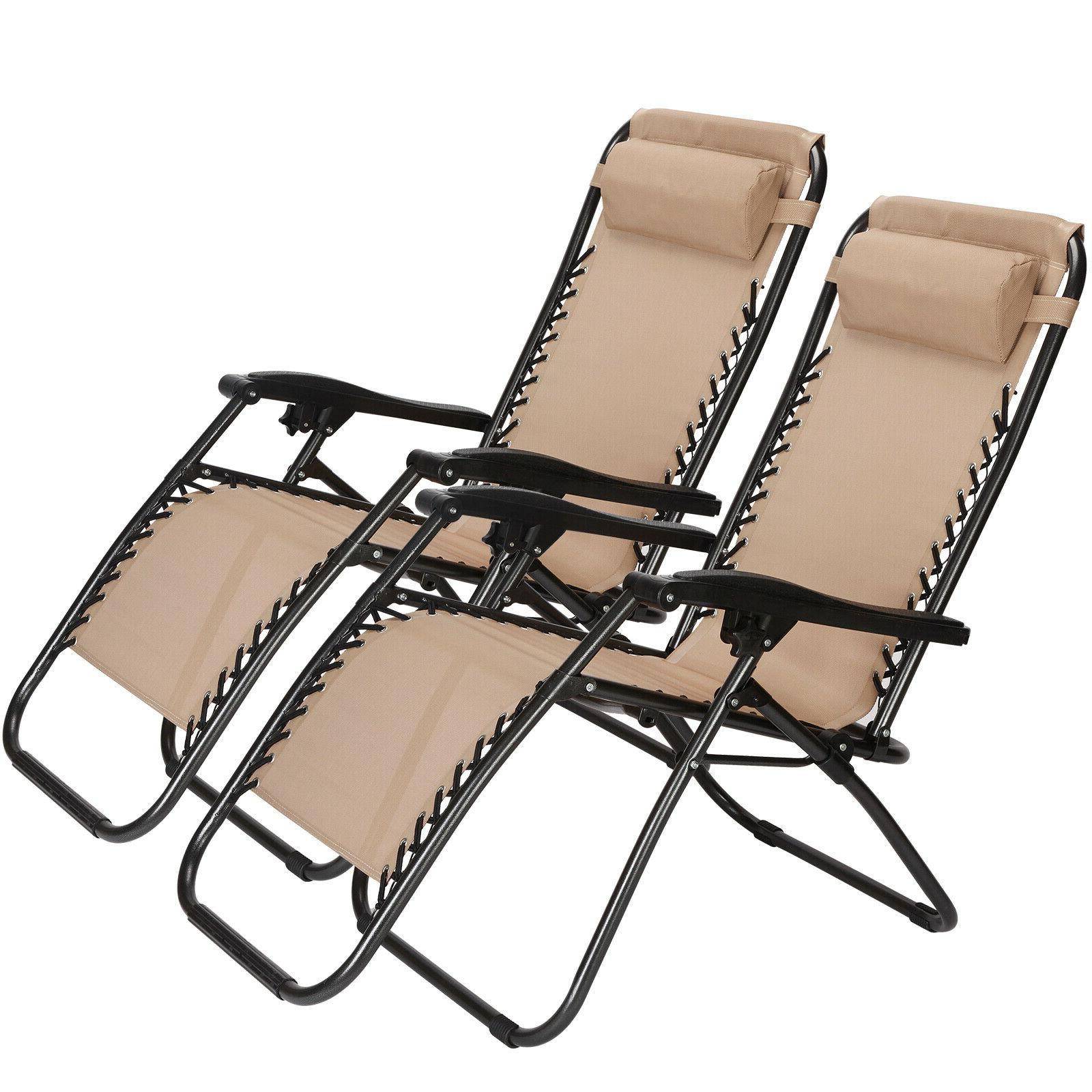 Set Of Gravity Patio Outdoor Chair