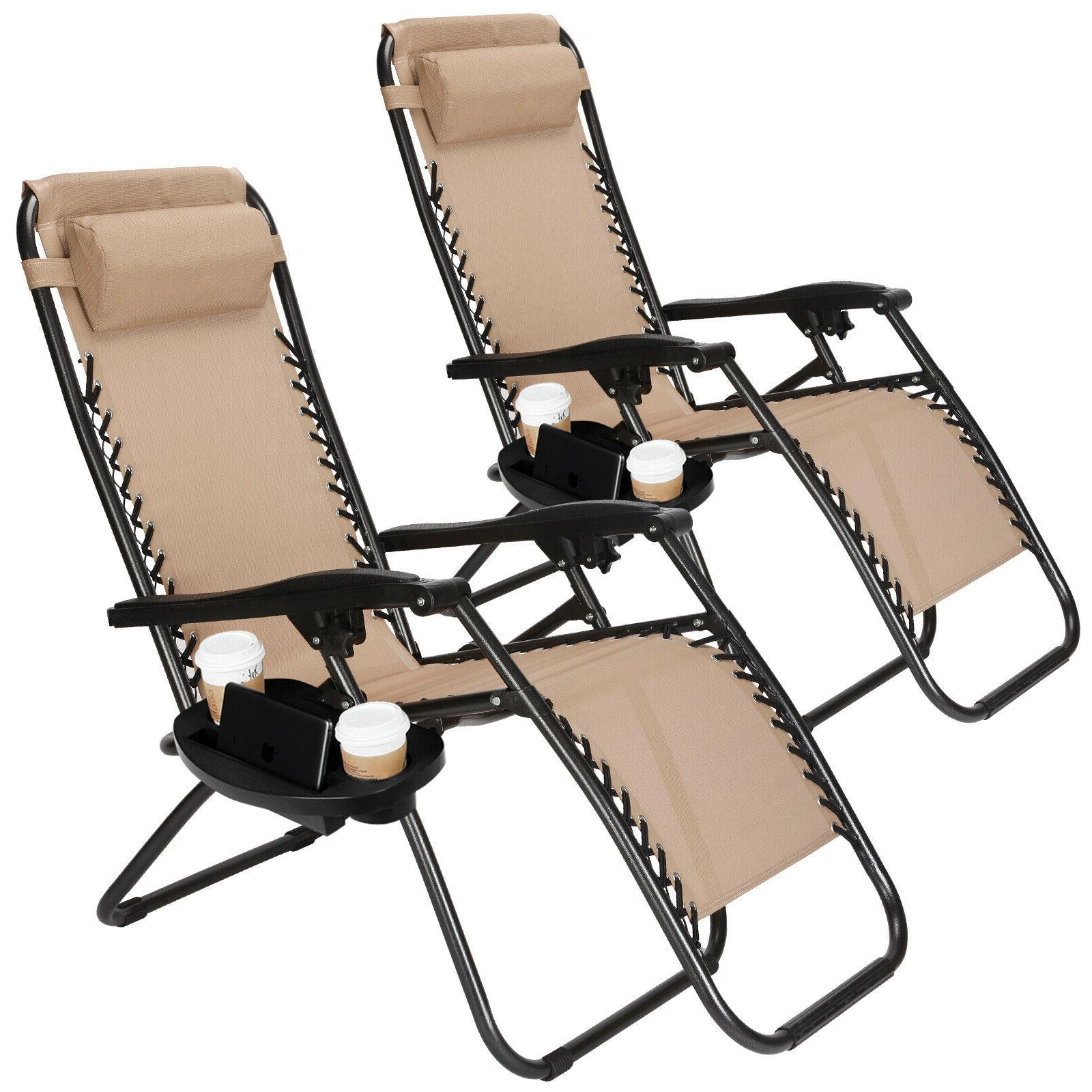 Set Of 2 Gravity Patio Chair