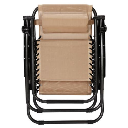 Set 2 Zero Gravity Chairs Lounge Chair