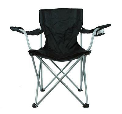 Camping Outdoor Sports Beach Fold Out Chair w/Cup Holder & C