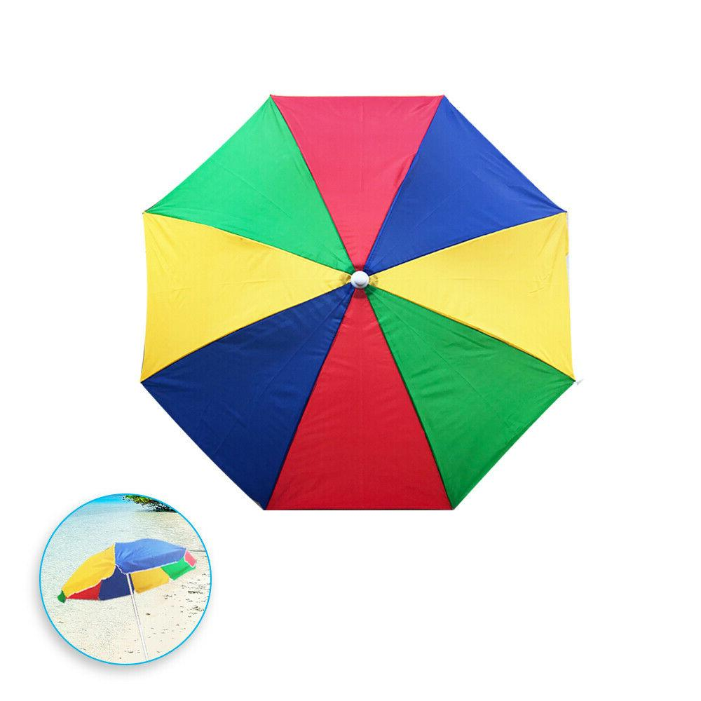 sun protection rainbow beach umbrella yellow red
