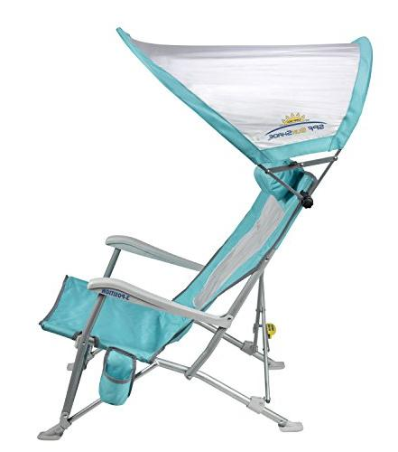 GCI Folding Beach Recliner with Adjustable SPF