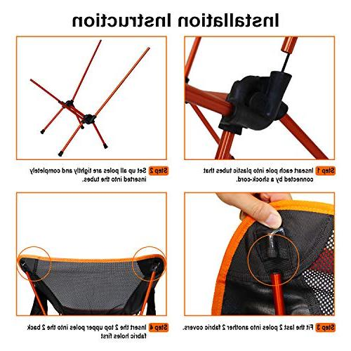 NiceC Camping Compact & Heavy Duty Outdoor, Camping, Beach, Picnic, Festival 2 Storage Bags&Carry