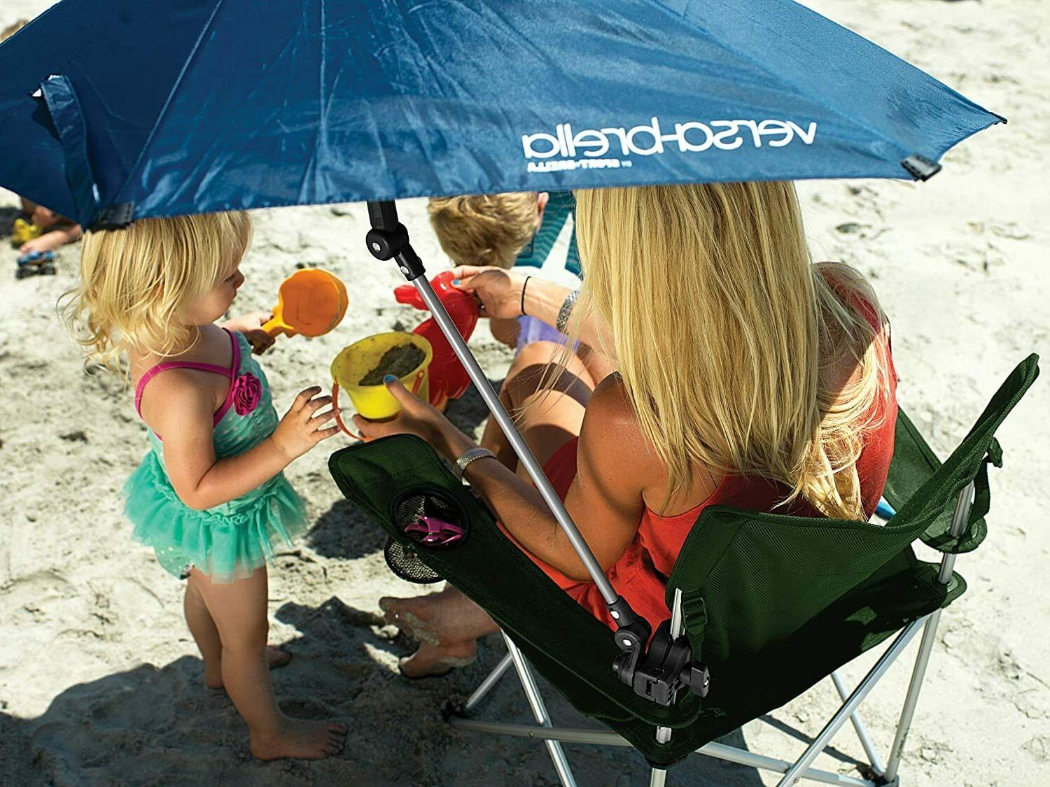 Canopy Blue Umbrella Chair Clamp On Stroller Shade Tent
