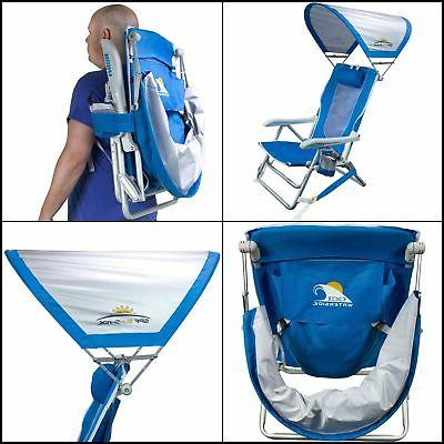 waterside reclining portable backpack beach chair