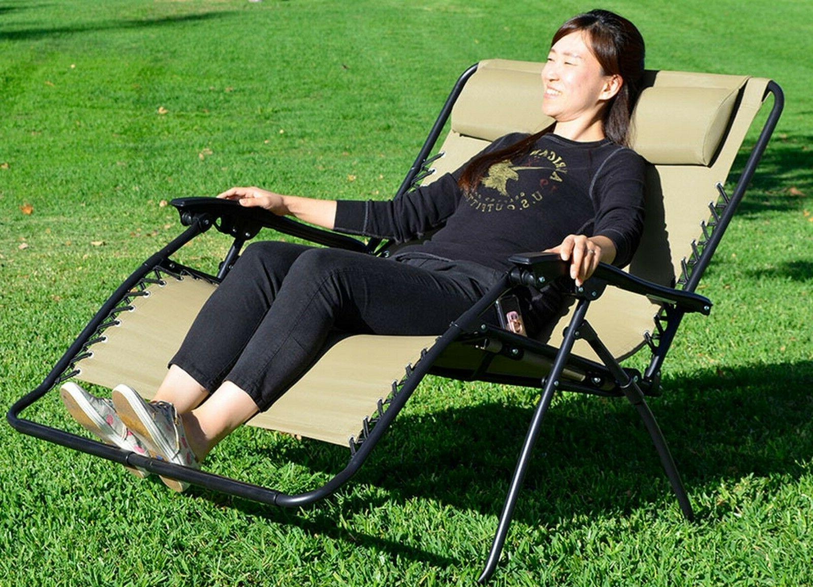 Zero Gravity Tan Outdoor Chair