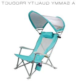 Lawn Chair Umbrella Reclining Beach With Canopy Lounge Fold