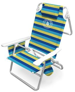 Caribbean Joe Lay Flat Deluxe Beach Chair CJ-7750