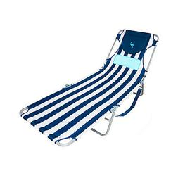 Ostrich LCL-1006S LCL Ladies Comfort Lounger Striped, Blue a