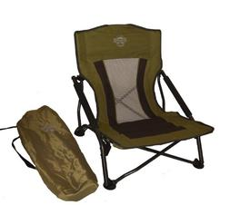 Crazy Creek Crazy Legs Quad Beach/Festival Chair Olive 6350-