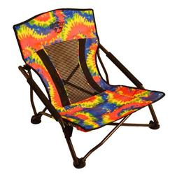 Crazy Creek Crazy Legs Quad Beach/Festival Chair Tie Dye 635