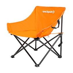 KingCamp Comfortable Light Heavy Duty Steel Folding Chair wi