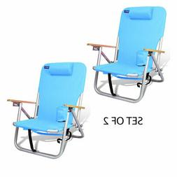 Lightweight Beach & Camping Aluminum Backpack Chair 4 Positi