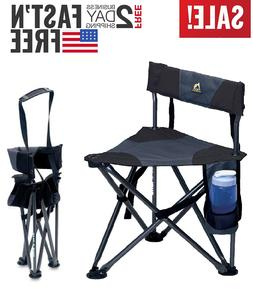Lightweight Padded Back Folding Stool  Weighs 4 lbs and supp