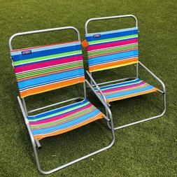 lot of 2 beach chair single position