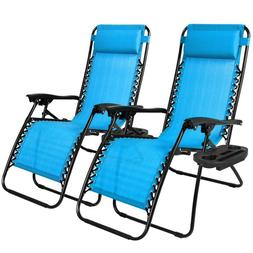Lounge Patio Chairs Zero Gravity Outdoor Yard Beach Set Of 2