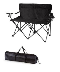 Loveseat Style Double Camp Chair with Steel Frame by Tradema