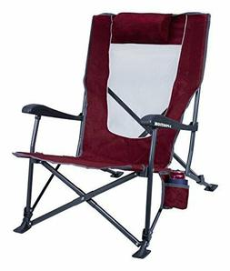 GCI Outdoor Low Ride Reclining Camping Chair Beach Travel Hi