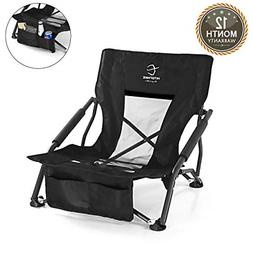 Hitorhike Low Sling Beach Camping Concert Folding Chair with