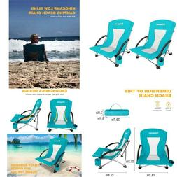 Low Sling Beach Camping Concert Folding Chair Low High Mesh