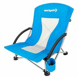 KingCamp Low Sling Beach Camping Concert Folding Chair, Blue
