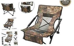 Low Sling Beach Camping Concert Folding Chair with Armrests