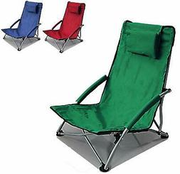 Low Sling Beach Chair Folding Campfire Camping Sand Chair Sh