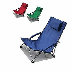Low Sling Beach Chair Folding Campfire Camping Sand Chair Da