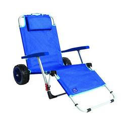 Mac Sport 2-in-1 Beach Day Folding Lounger Chair & Wagon Car