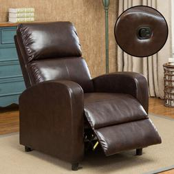 Manual Recliner Leather Sofa Arm Chair Living Room Seat Chai