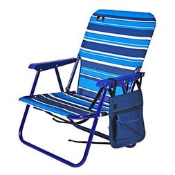 Mid Height Steel Backpack Beach Chair and Camping Sports Cha