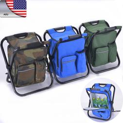 Multi-Function Backpack Beach Chair + Cooler Bag Storage For