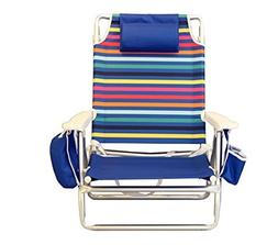 Nautica Reclining Folding Beach Chair with Insulated Cooler