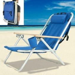 New Backpack Beach Chair Folding Portable Chair with Adjusta