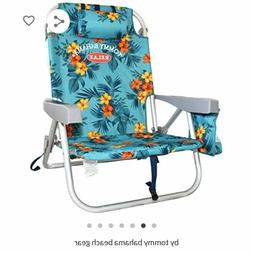 NEW Tommy Bahama Backpack Beach Pool Folding Chair 5 Positio