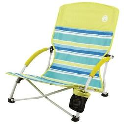 New Coleman Beach Deluxe Low Sling Chair Citrus