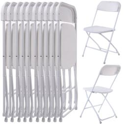 New Commercial White Plastic Folding Chairs Stackable Picnic