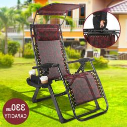Zero Gravity Folding Lounge Beach Chairs Heavy Duty Square F