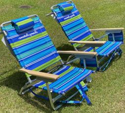 New Set Of 2 Tommy Bahama beach chair With Backpack And Cool