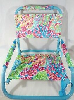 NWOT Lilly Pulitzer Set of 2 Beach Chairs Seaspray Blue Love
