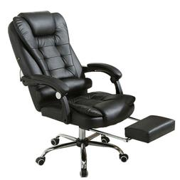 Office Chair Leather Desk Gaming Chair With Massage Adjust H